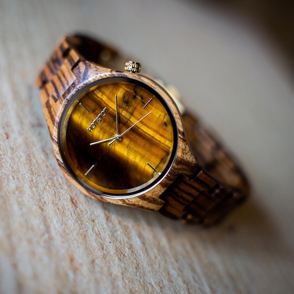 Houten horloge Tigano