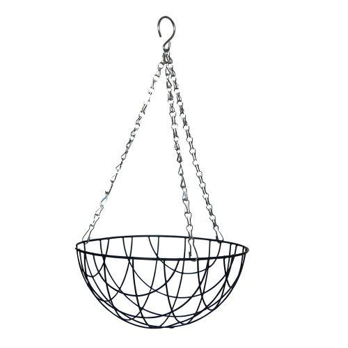Metalen hangende plantenmand Ø 25 cm met inleg