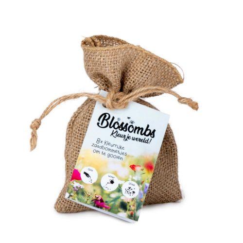Blossombs Jute geschenkzakje met 8 zadenbommetjes