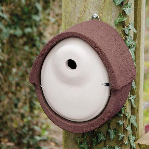 Nestkast houtbeton ovaal 28 mm bruin