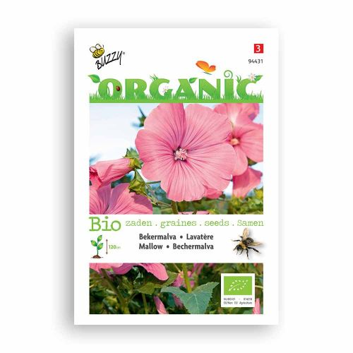Buzzy® Organic Lavatera trimestris rose/rood  (BIO)