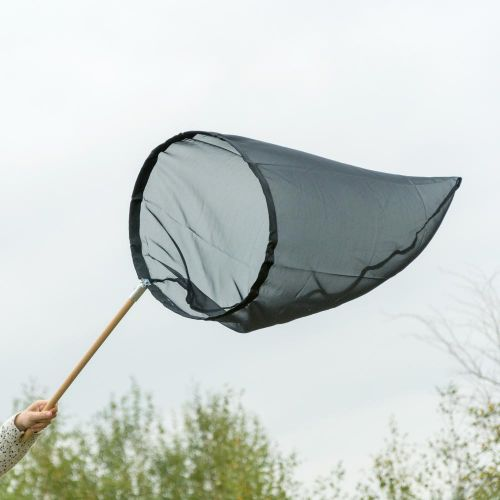 Vlindernet zwart 50 cm - opklapbare beugel