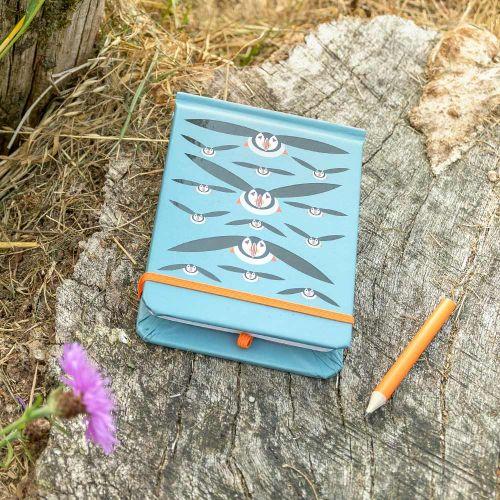 Flying Puffins Spot & Jot Notebook