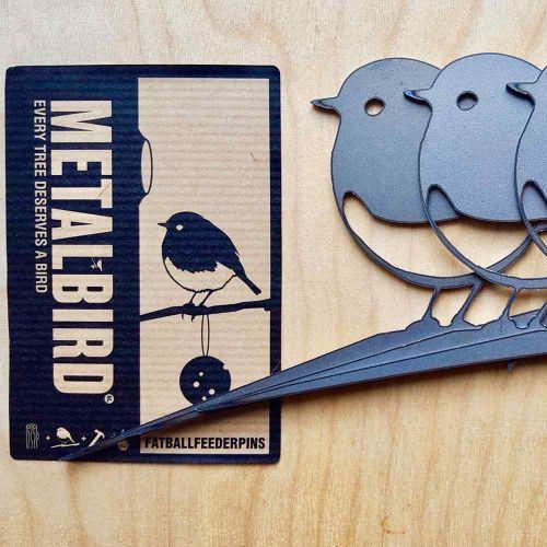 Metalbird XXS roodborst 3-pack