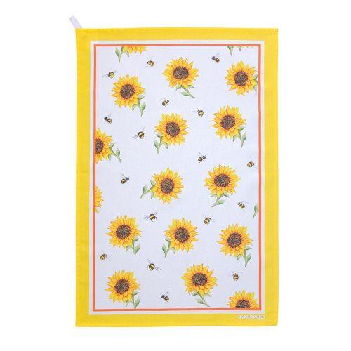 Keukenhanddoekenset met hommels en zonnebloemen - Roy Kirkham