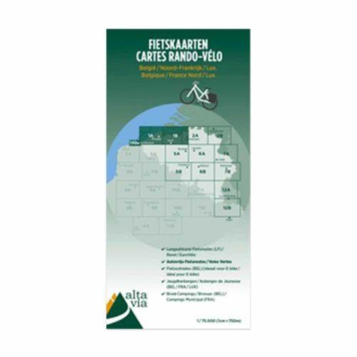 Fietskaart Nr. 1 Oost-Vlaanderen + West-Vlaanderen (deel)