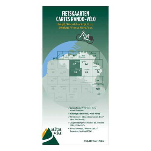 Fietskaart Nr. 5 Brabant + Oost-Vlaanderen + Henegouwen