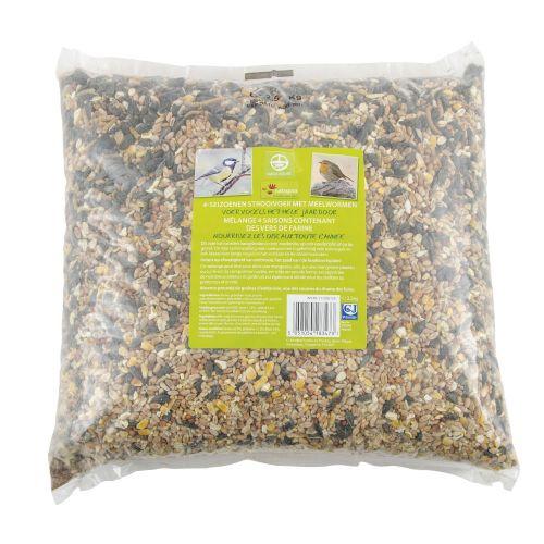 4-seizoenen strooivoer met meelwormen 2,5 kg