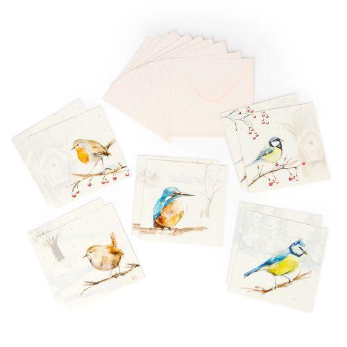 Wenskaartenset Winterbirds - Michelle Dujardin
