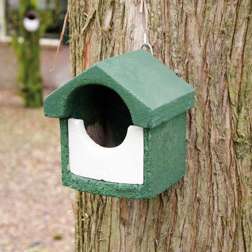 Nestkast houtbeton half open groen (klein model)