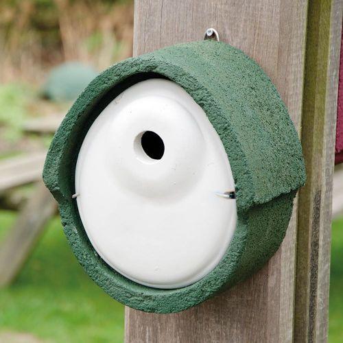 Nestkast houtbeton ovaal 32 mm groen