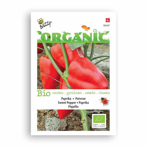 Buzzy® Organic Paprika Piquillo rood  (BIO)