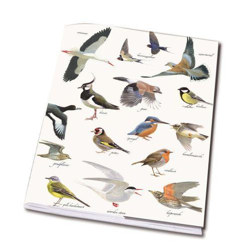 Schrift 'vogels' A5