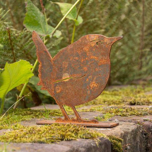 Metalen vogel winterkoninkje