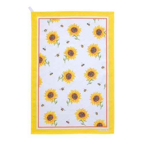Theedoekenset met hommels en zonnebloemen