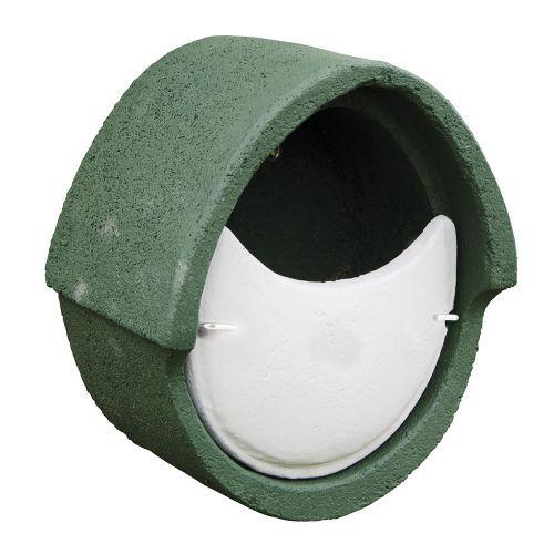 Nestkast houtbeton half open groen