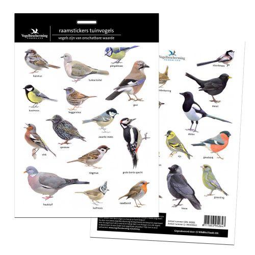Raamstickers tuinvogels